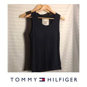 Tommy Hilfiger Lot:2 Tank Tops, embroidered logo